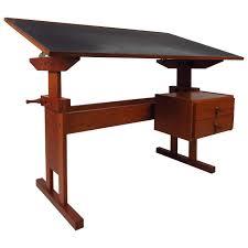 Black Drafting Table Mid Century Danish Black Top Drafting Table At 1stdibs