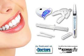 teeth whitening kit with led light at home teeth whitening kit 90 off 29 00 includes upper and lower