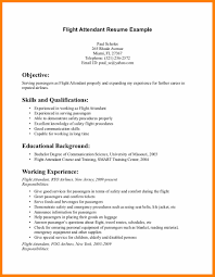 Safety Resume Sample by 7 Flight Attendant Resume Sample Character Refence