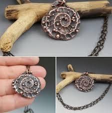 copper electroforming copper electroformed on polymer clay jewelry by