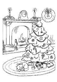 christmas tree colouring kids families magazine