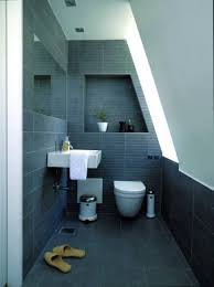 grey bathroom ideas combination with white wall and toilet and