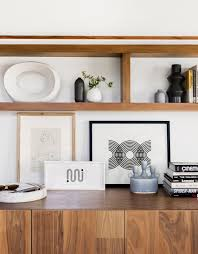 entry shelf a modern and organic entry shelf styling tips emily henderson
