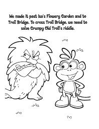 boots cross troll bridge coloring dora123 com games coloring