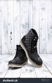 footwear concept mens winter leather boots stock photo 339530360