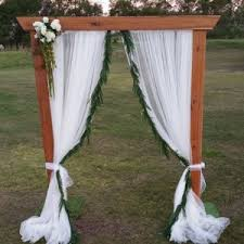 Wedding Arches Melbourne Timber Wedding Arbour With Fresh Garland The Wedding Arch By