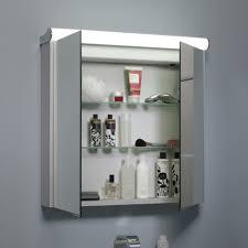 rhodes latitude illuminated bathroom cabinet 710mm doors open