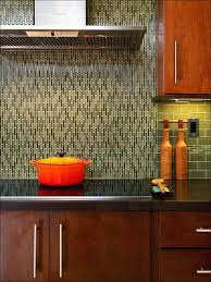 kitchen brown wooden kitchen cabinet beige tiled back splash