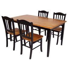 boraam bloomington dining table set 5 piece shaker dining set wood black oak boraam industries target