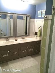 Kids Bathroom Furniture - before u0026 after kids u0027 bathroom makeover reveal thrift diving blog