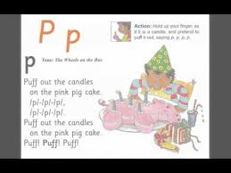 letter p jolly phonics song youtube videos