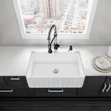 kitchen sink backsplash farmhouse sink with backsplash wayfair
