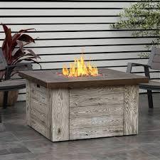 rectangle propane fire pit table unlock wayfair propane fire pit firepit table with cover lid