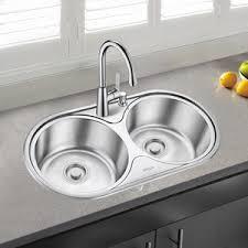 Best Double Bowl Round Kitchen Sinks Faucet Include - Round sink kitchen