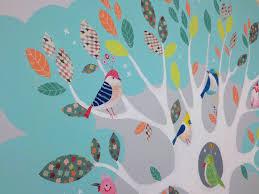 fresque murale chambre fresque murale décorative chambre d enfant arbre de vie et oiseaux