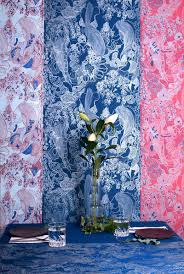 hand screen printed wallpapers corals collection addicted to