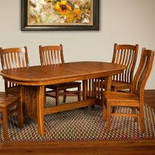 chair arts and crafts trestle extension table amish tab arts and