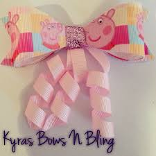 peppa pig ribbon 19 best peppa pig lazos etc images on hair bows