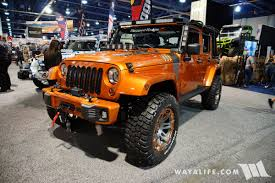 commando jeep 2017 2017 sema rugged ridge orange jeep jk wrangler unlimited