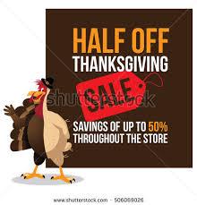 half thanksgiving sale half plucked stock vector 506069026