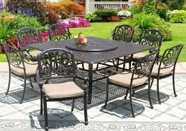 Outdoor Dining Chair by Elisabeth Cast Aluminum Outdoor Patio 9pc Set 8 Dining Chairs 65