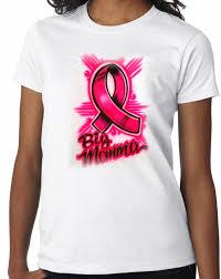 ribbon shirt airbrushed cancer ribbon shirt aim to tees custom t shirts