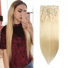 clip on hair extensions unice 100g 613 lightest clip in hair extensions cheap