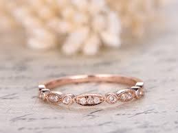 art deco diamond wedding ring half eternity band bezel engagement