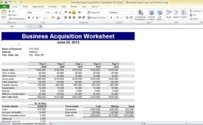 Microsoft Excel Business Templates Free Business Acquisition Template For Excel