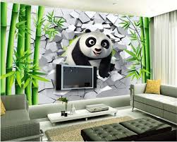 online buy wholesale bamboo wall murals from china bamboo wall beibehang 2017 new home decoration papel de parede 3d wallpaper fashion personality hole cute panda bamboo