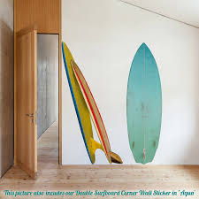 single surfboard wall sticker by oakdene designs