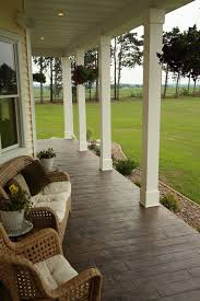 wrap around deck designs concrete porch designs porch traditional with sted concrete