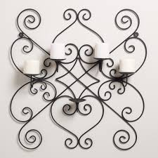 Iron Home Decor by Decoration Wrought Iron Candle Wall Sconces Home Decor Ideas