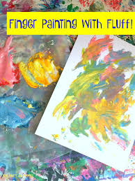 color mixing with marshmallow finger paint kids art activities