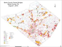 bridges of county map map of county owned bridges