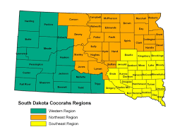 map of south dakota counties cocorahs community collaborative hail