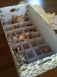 Decorate Cardboard Box Ornament Storage Box
