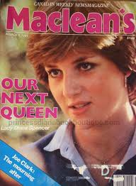 our princess diana in the press today is from canada our next