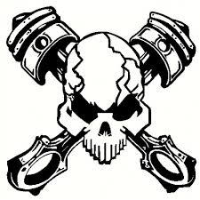 skull pistons decal