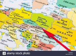 Cologne Germany Map by Red Arrow Pointing Slovakia On The Map Of Europe Continent Stock