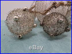 antique blown glass tree ornament wire wrapped grapes