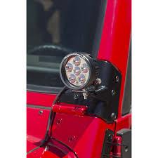 rugged ridge 11027 02 windshield auxiliary light mounting brackets