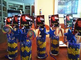 graduation centerpiece ideas graduation centerpiece ideas graduation centerpieces go blue