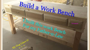 how to built a work bench with drawers youtube
