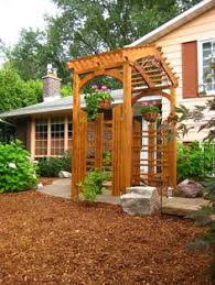 Pre Made Pergola by These Pre Made Cedar Trellis Panels With Pergola Top Adds Height