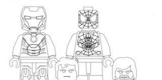 Coloriage Gratuit Lego Avengers  Meilleures Idées Coloriage Pour
