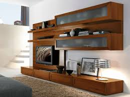 Oak Tv Cabinets With Glass Doors Furniture Extraordinary Modern White Living Room Decoration Using