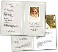 memorial program wording funeral program service template