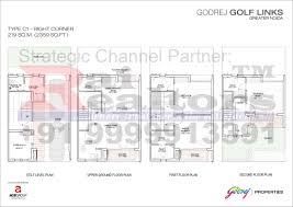 Site Floor Plan by Site Floor Plans Godrej Golf Links 8285108285 Godrej Golf Links
