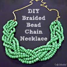 bead necklace diy braided bead strand tutorial
